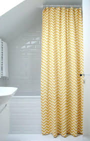 yellow and white chevron shower curtain grey