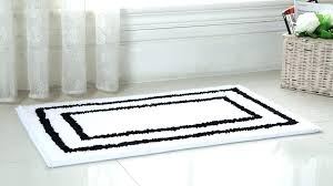 black and white bath rug bathroom rugs 2 piece regency manor microfiber set mat black and white bath rug