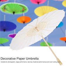 hand diy painting white paper parasol umbrella wedding