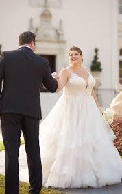 Plus Size Wedding Gown Designers Shimmering Ballgown Plus Size Wedding Dress Stella York
