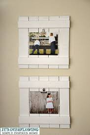 Do this with cut/short pieces of pallet, and cool pictures =] do a whole  wall of thesee DIY repurposed wood frames with clips in the kitchen so the  art is ...
