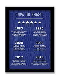 Quadro Decorativo Cruzeiro Hexa Copa do Brasil - Futebol - Tamanho A3 -  Clube Dos Quadros - Quadro Decorativo - Magazine Luiza