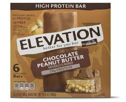 elevation by millville chocolate peanut er high protein bars