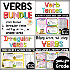 Verb Tenses Activities Irregular Verbs Helping Action Linking Verbs Bundle