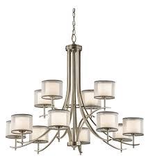 kichler 43151ap tallie 12 light 42 inch antique pewter chandelier ceiling light