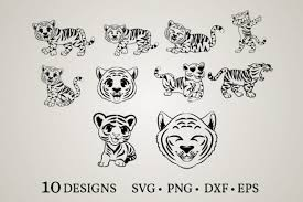 I have so many questions. 3 Tiger Png Designs Graphics