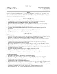 Business Administration Sample Resume Resume Cover Letter Template