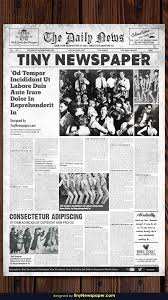Editable Old Newspaper Template 1920s Vintage Newspaper Template Word