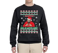 Santa Do You Love Me Keke Xmas Scorpion | Mens Ugly Christmas Sweater Crewneck Graphic Sweatshirt Unisex