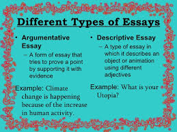 english essay presentation different types of essays