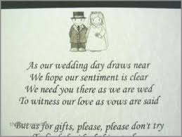 wedding invitations with no gifts luxury best wedding invitation wording for gifts money awesome