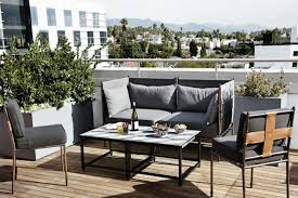 small balcony furniture. Modern Small Balcony Furniture Black Color Ideas