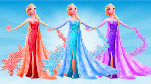 elsa disney frozen 10 colors dress educational cartoon for toddlers we are learning 10 colors you