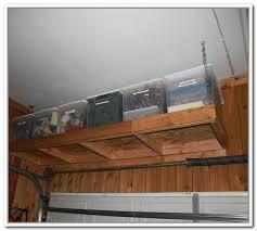 diy over garage door storage