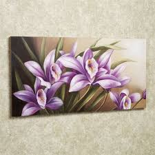 wild orchid canvas art purple on canvas wall art purple flowers with wild orchid handpainted floral canvas wall art