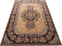 persian modern woven 7x10 area rug berber chocolate actual size 5 11 x 8