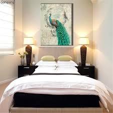 Canvas Painting Peacock No Frame Animal Cartoon Beautiful Canvas