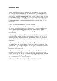 human resource manager cover letter cover letter examples for cover letter to human resources