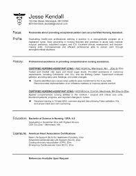 Nursing Resume Cover Letter Beautiful Nursing Resume Samples New