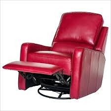 small leather swivel recliner chair white club finest ideal rocker faux furniture remarkable leathe