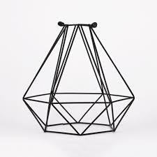 fantado geometric diamond vintage edison light bulb cage for pendant lights by paperlantern cage only com