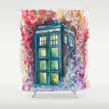 geeky shower curtains. Doctorwho Geeky Shower Curtains