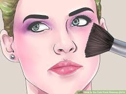image led do cute punk makeup s step 7