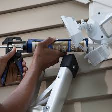 apply caulk to outside of light