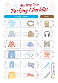 Packing Check List Download Printable Packing Checklist For Boy Pdf