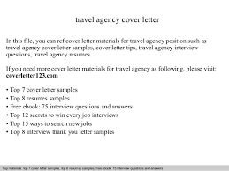 travel agency cover letter in this file you can ref cover letter materials for travel agency cover letter