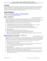 Exchange Administrator Sample Resume Exchange Administrator Resume Examples Msmple Advertising Asst 2