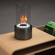 vent free ethanol fireplace in black