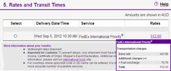 Shipping Rates Transit Times Guide Fedex Philippines