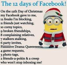 The first day the first day of christmas is, christmas day, the nativity of jesus christ. The 12 Days Of Facebook Anti Jokes Christmas Jokes Minions Quotes