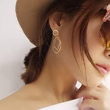 A&C Fashion Korean Version Alloy Simple Geometric ... - Amazon.com