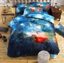 3d galaxy bedding sets twin queen size universe outer space themed bedspread 2pcs 3pcs 4pcs bed linen bed sheets duvet cover set bedding net