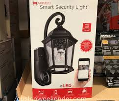 Maximus Coach Light Security Cameras Maximus Smart Security Coach Light Costco Weekender