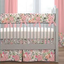 c pink tropic fl crib bedding carousel designs baby sets target vintage peach 1600