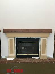 diy fireplace surround and mantel fireplace and mantel in progress