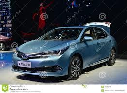 Toyota Corolla hybrid car editorial stock image. Image of speed ...