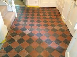 victorian quarry tiled floor before restoration in oxford