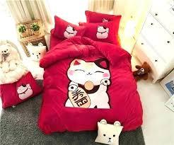 qvc northern nights sheets sheets fleece sheets twin cartoon cat fleece fabric luxury bedding set red