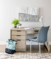 Image modern home office desks Wood Rustic Modern Home Office Desk Love This Fresh Neutral Space Schneidermans the Blog Schneidermans Furniture Choosing The Perfect Desk For Your Home Office Schneidermans the