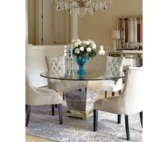 marais dining room furniture 7 piece set 60 mirrored dining table and 6