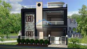 North Face Elevation Designs 30x45 Two Storey House Plan 1350 Square Feet Home Design