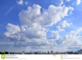 Midday Light Blue Sky From Bangkok City In Midday Light Stock Photo