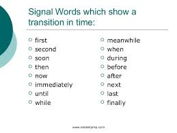 Chronological Words Sequence Powerpoint 1