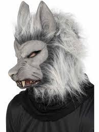 Grijs Weerwolf Masker