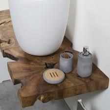Comodini con tronchi : Composizione mobili per arredo bagno sospesa nature cipì