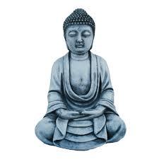 small buddha ornament meditating aisan oriental stone garden art buddha statue 23cm